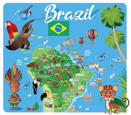 Brazil Tavel Map, Sao Paulo, Rio de Janeiro, Salvador, Fortaleza, Belo Horizonte, Brasilia, Curitiba, Manaus, Recife, Belem, Porto Alegre, Goiania, Guarulhos, Campinas, Nova Iguacu, Maceio, Sao Luis , Duque de Caxias, Natal, Teresina, Sao Bernardo do Camp