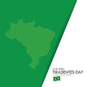 Brazil Tiradentes Day greeting card. stock illustration