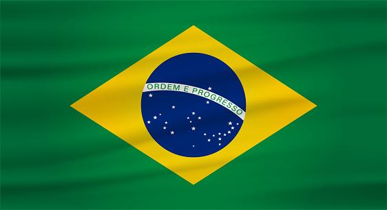 brazil undulating flag vector (bandeira do brasil)