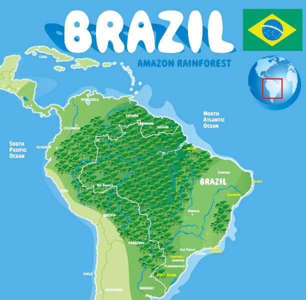 ilustrações, clipart, desenhos animados e ícones de o brasil - manaus