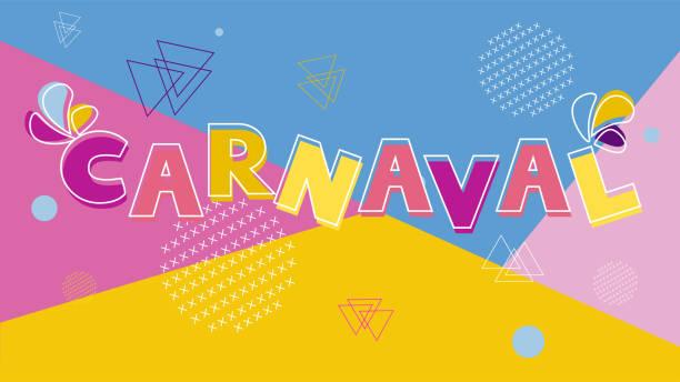 ilustraciones, imágenes clip art, dibujos animados e iconos de stock de carnaval brasileño colorido vector de fondo moderno - carnaval