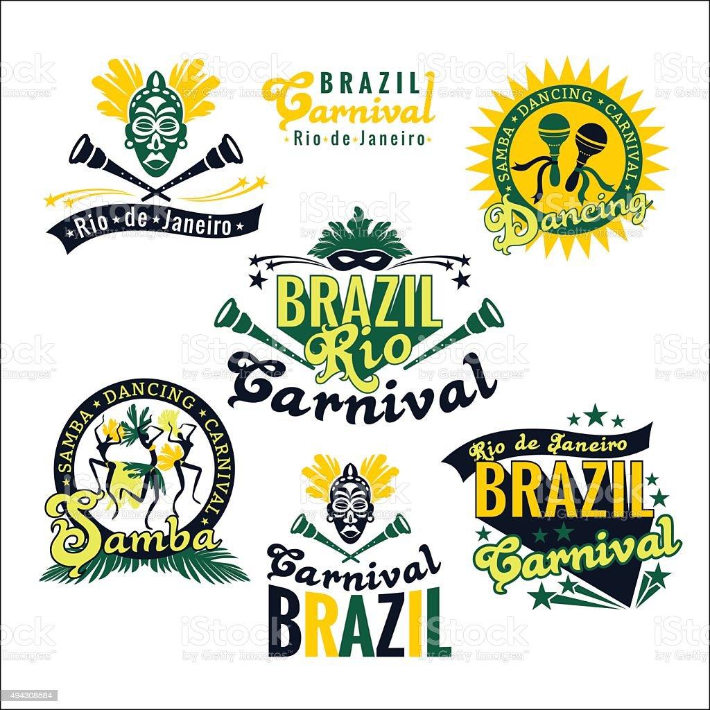 big set of brazilian templates royalty free stock vector art