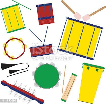 istock Brazilian carnival music instruments. 841990898