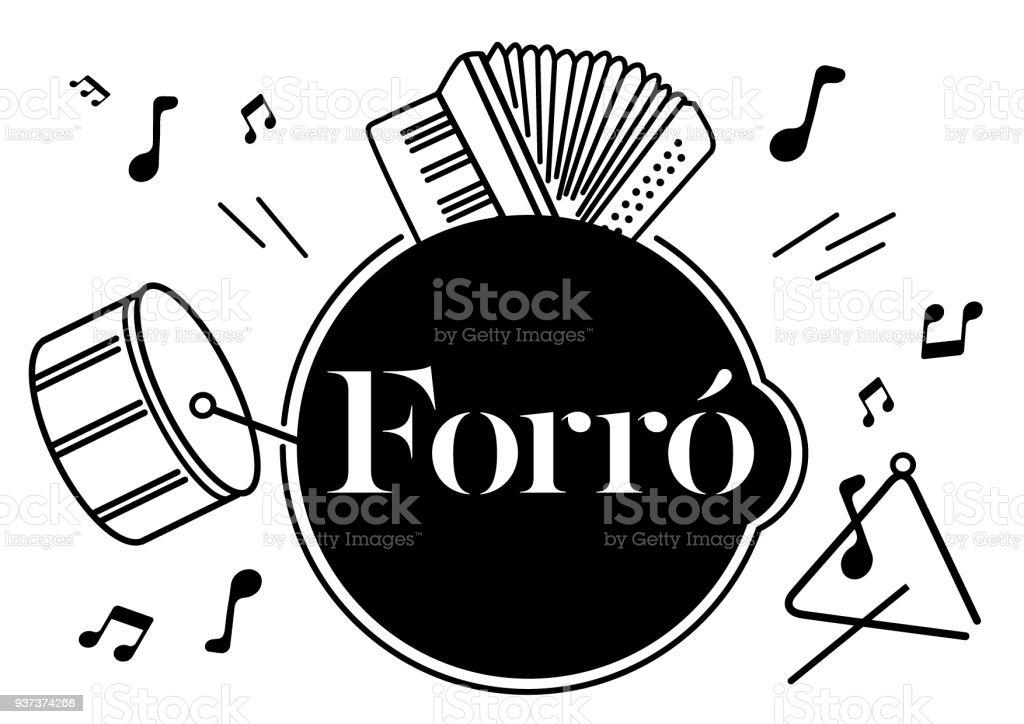 Brazilian Dance Forro Stock Illustration - Download Image