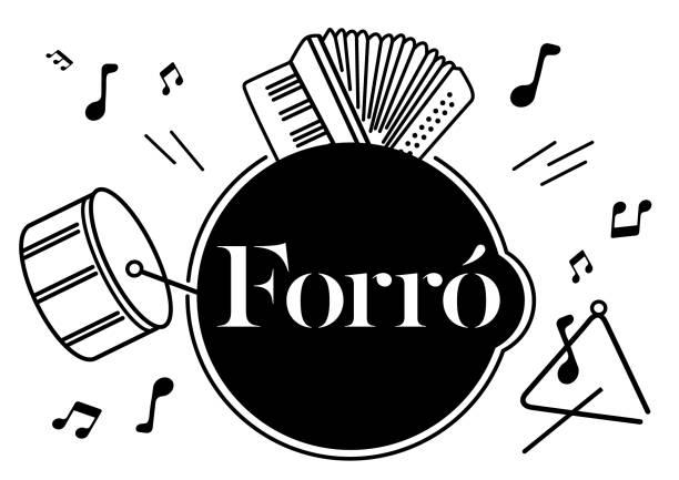 Brasilianischer Tanz Forro – Vektorgrafik