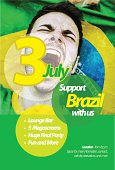 Brazilian Event Flyer Graphic Design