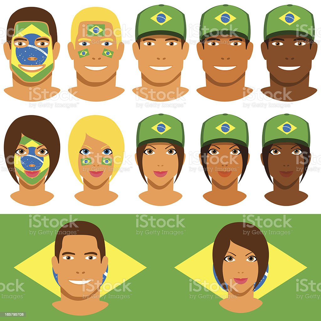 Brazilian fans, patriot with flag of Brazil royalty-free brazilian fans patriot with flag of brazil stock vector art & more images of adult