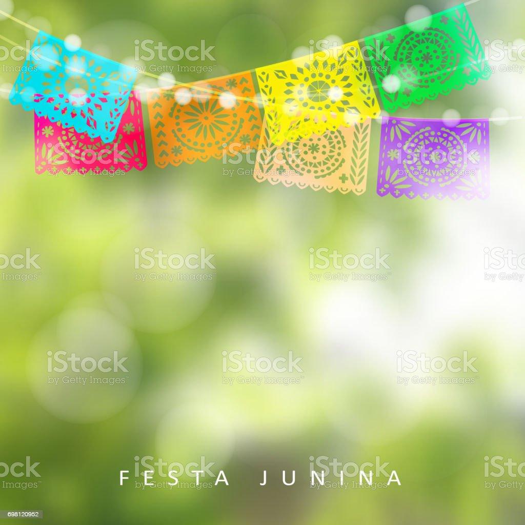 Brasilianische Dekoration brasilianische festa junina oder hochsommer grusskarte einladung