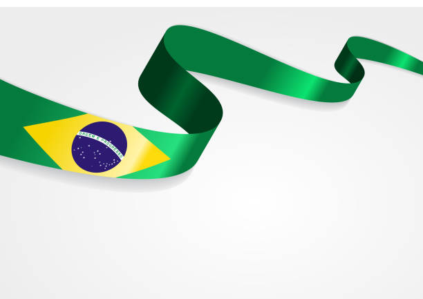 Brazilian flag background. Vector illustration vector art illustration