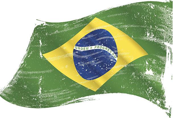 Drapeau brésilien grunge - Illustration vectorielle