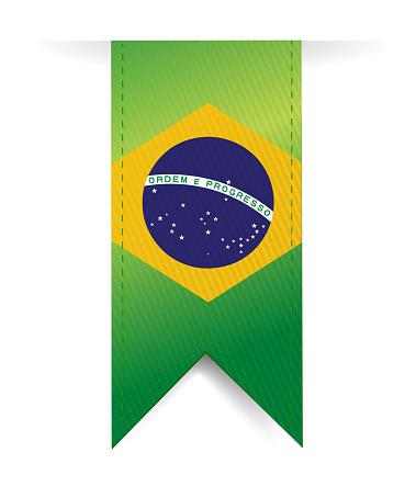 Brazilian flag illustration design