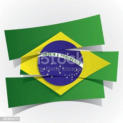istock Brazilian Flag 482855515