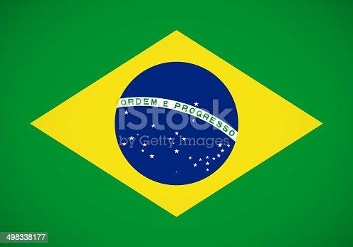 istock Brazilian flag 498338177