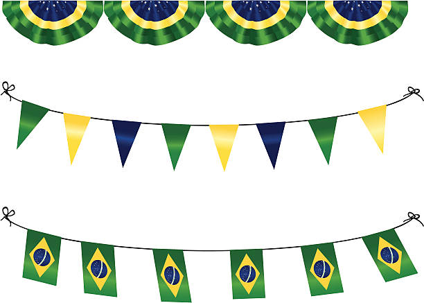 brazilian flags - heather mcgrath stock illustrations