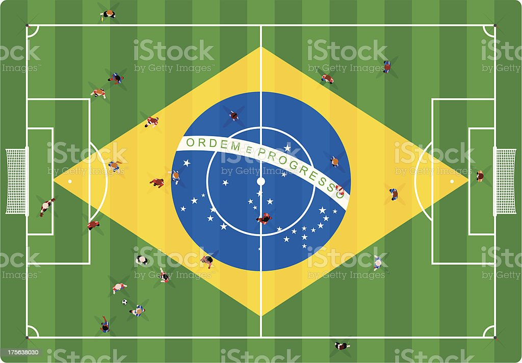 Brazilian Football royalty-free stock vector art