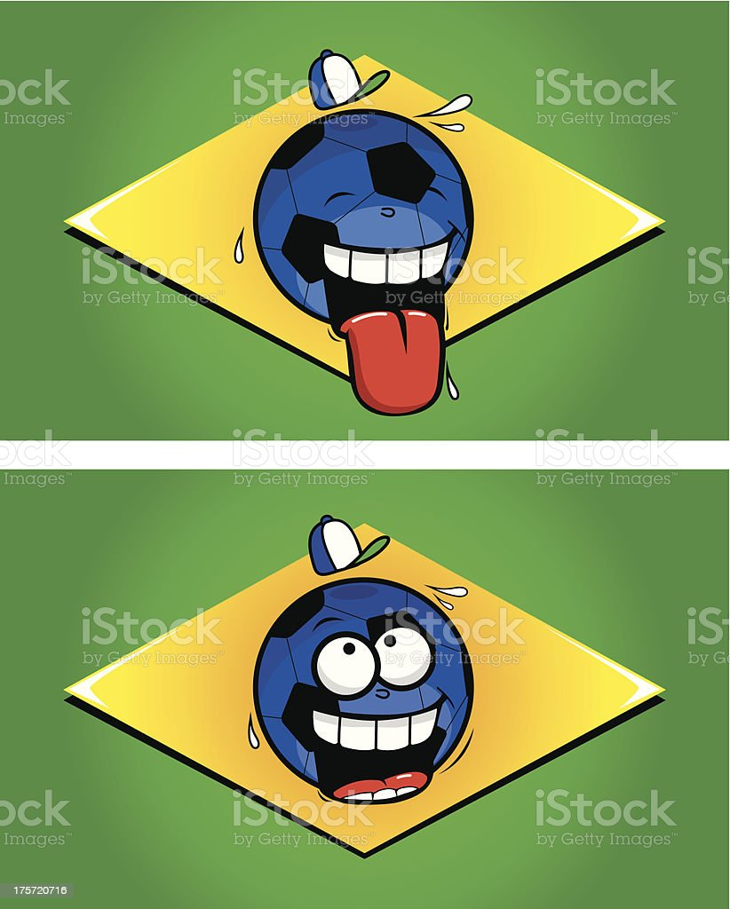 Brazilian funny cartoon football flags royalty-free brazilian funny cartoon football flags stock vector art & more images of 2014