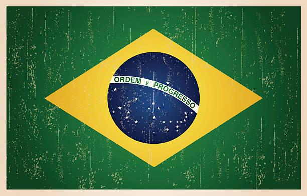 grunge vintage Drapeau brésilien - Illustration vectorielle