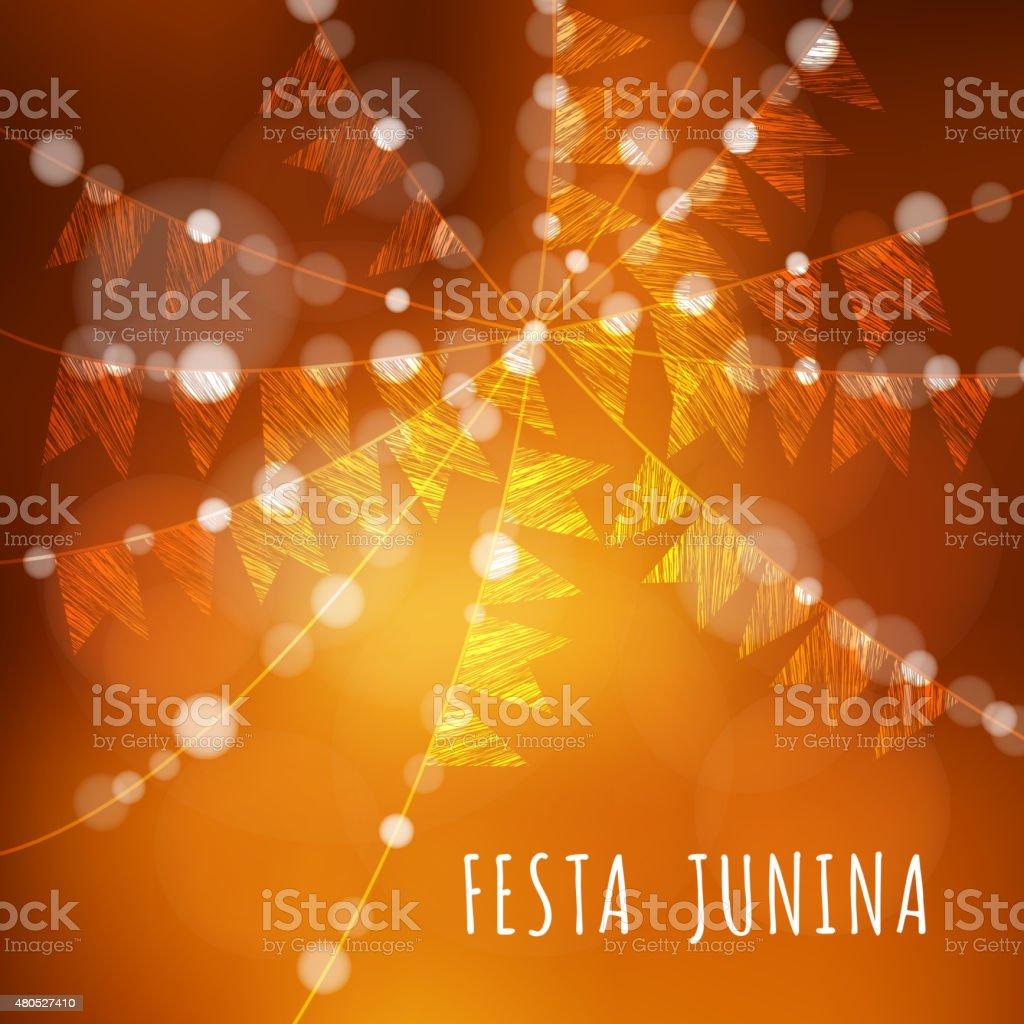 Brazilian june party, vector illustration background vector art illustration