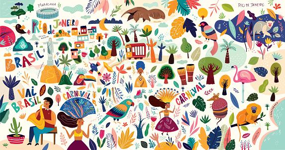 Carnival stock illustrations