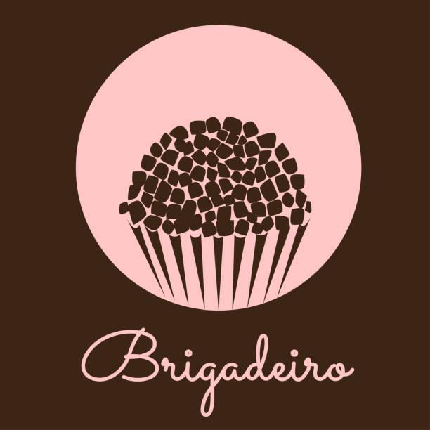 ilustrações, clipart, desenhos animados e ícones de brasileiro tradicional doce brigadeiro vector. ícone de volta. - brigadeiro