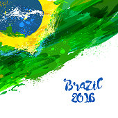 Brazilian watercolor flag