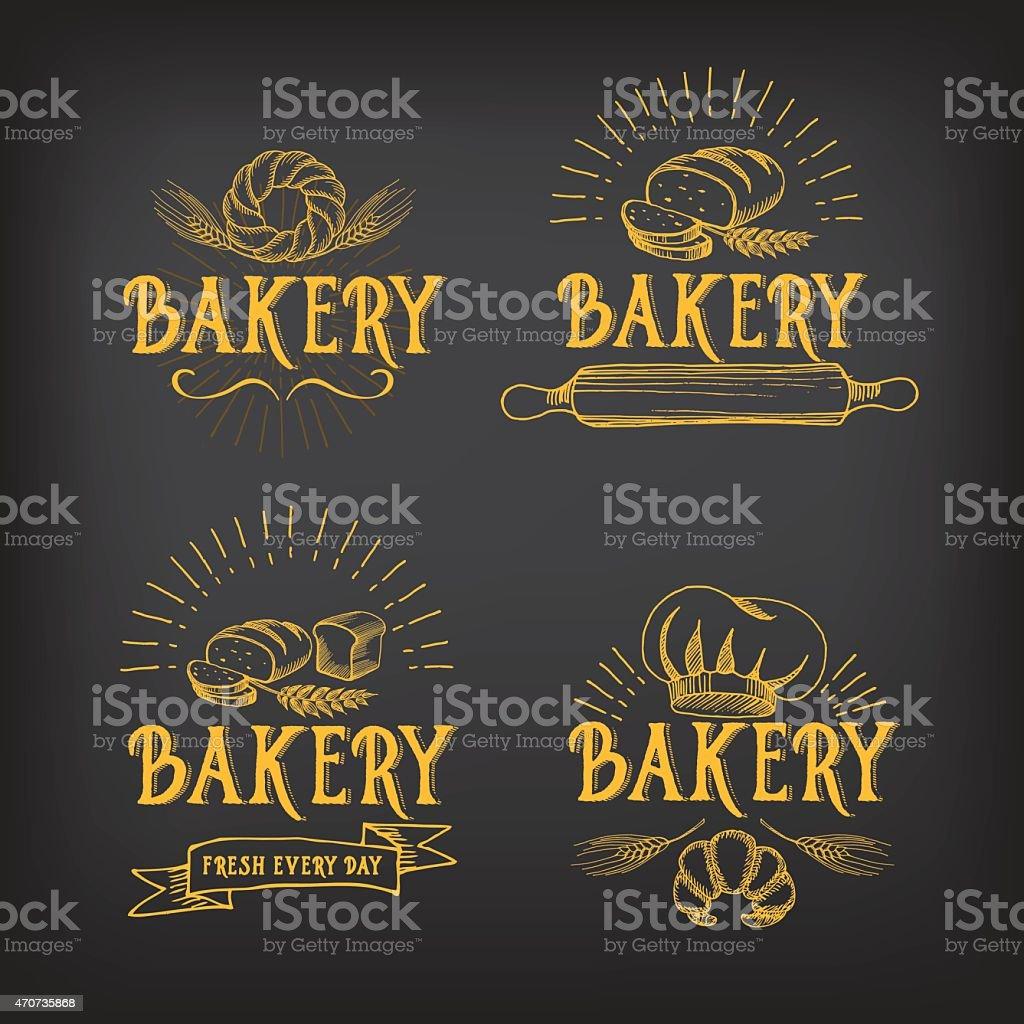 Bread and bakery. vector art illustration