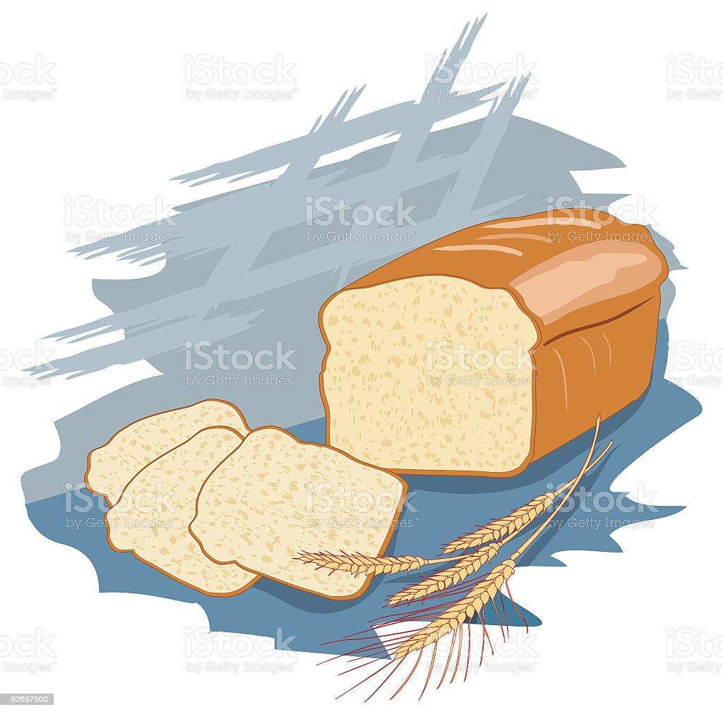 Bread and Grains royalty-free stock vector art