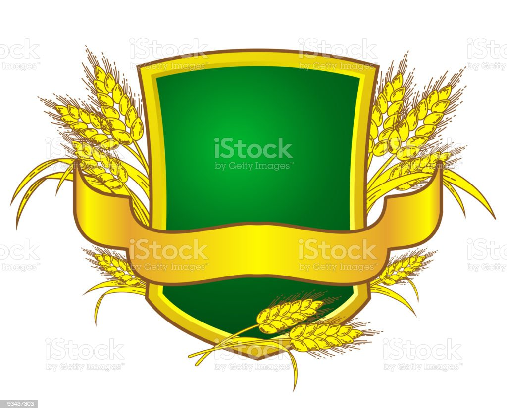 Bread and shield royalty-free stock vector art