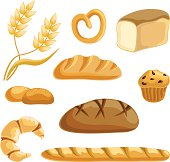 Collection of different kind of bread.