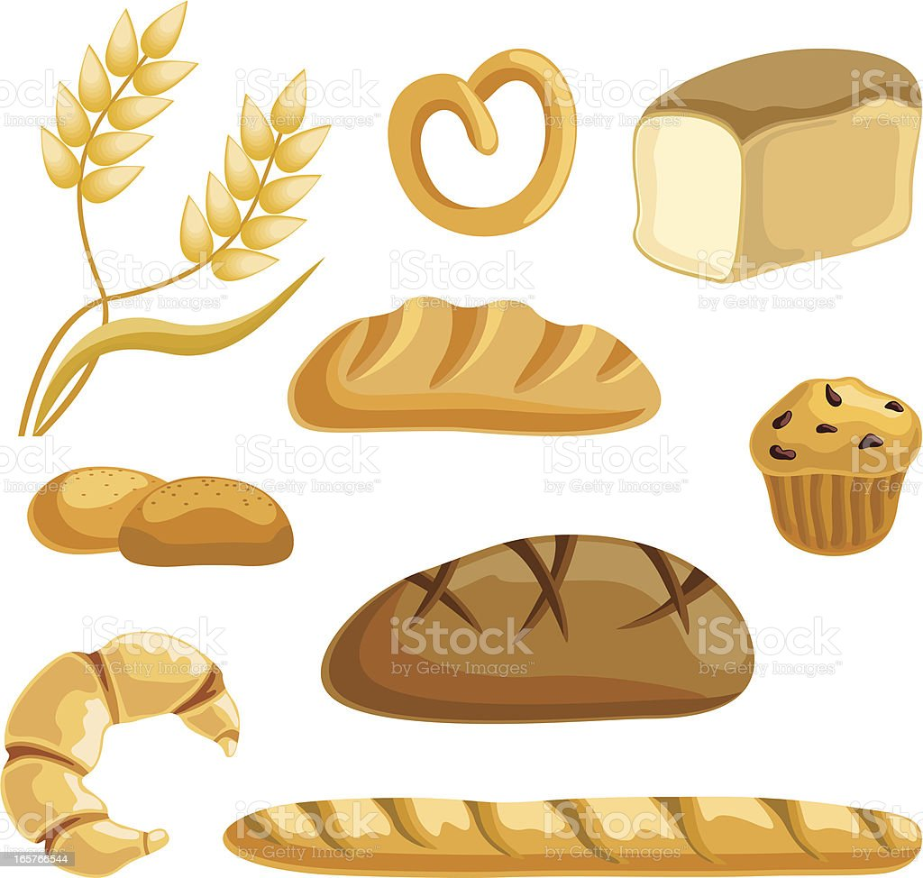 Bread collection vector art illustration