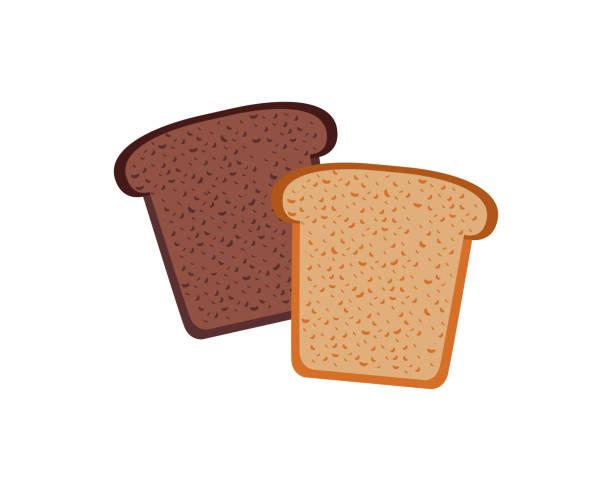 パン デザイン フラット分離ホワイト - 食パン点のイラスト素材/クリップアート素材/マンガ素材/アイコン素材