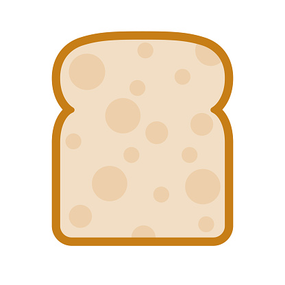 Bread Icon on Transparent Background
