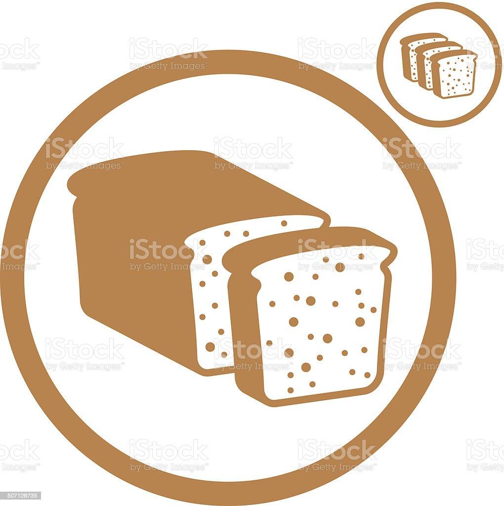 Bread icon. royalty-free stock vector art
