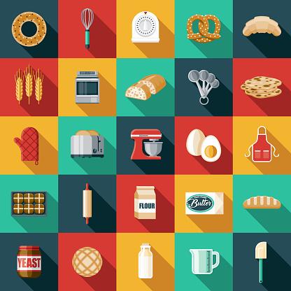 Bread Making Icon Set