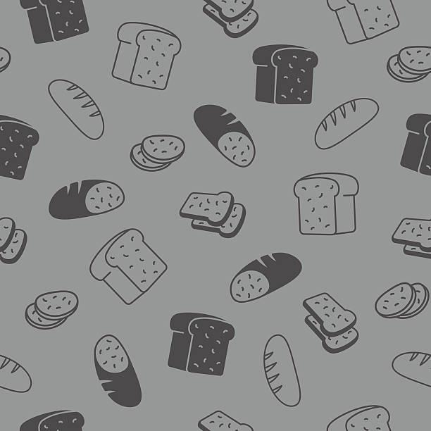 パン継ぎ目のないパターンます。 - 食パン点のイラスト素材/クリップアート素材/マンガ素材/アイコン素材