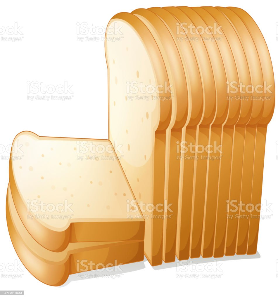 Bread slices vector art illustration