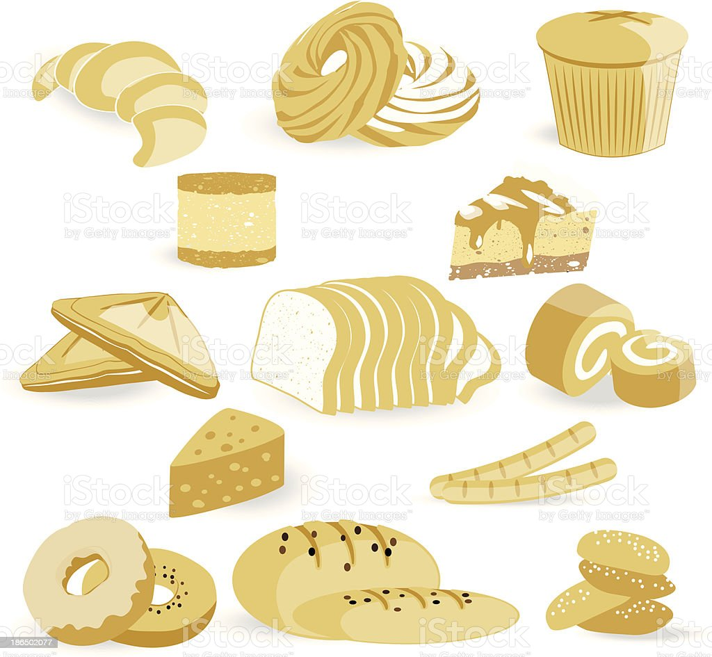 bread Sticker and icon set royalty-free bread sticker and icon set stock vector art & more images of badge