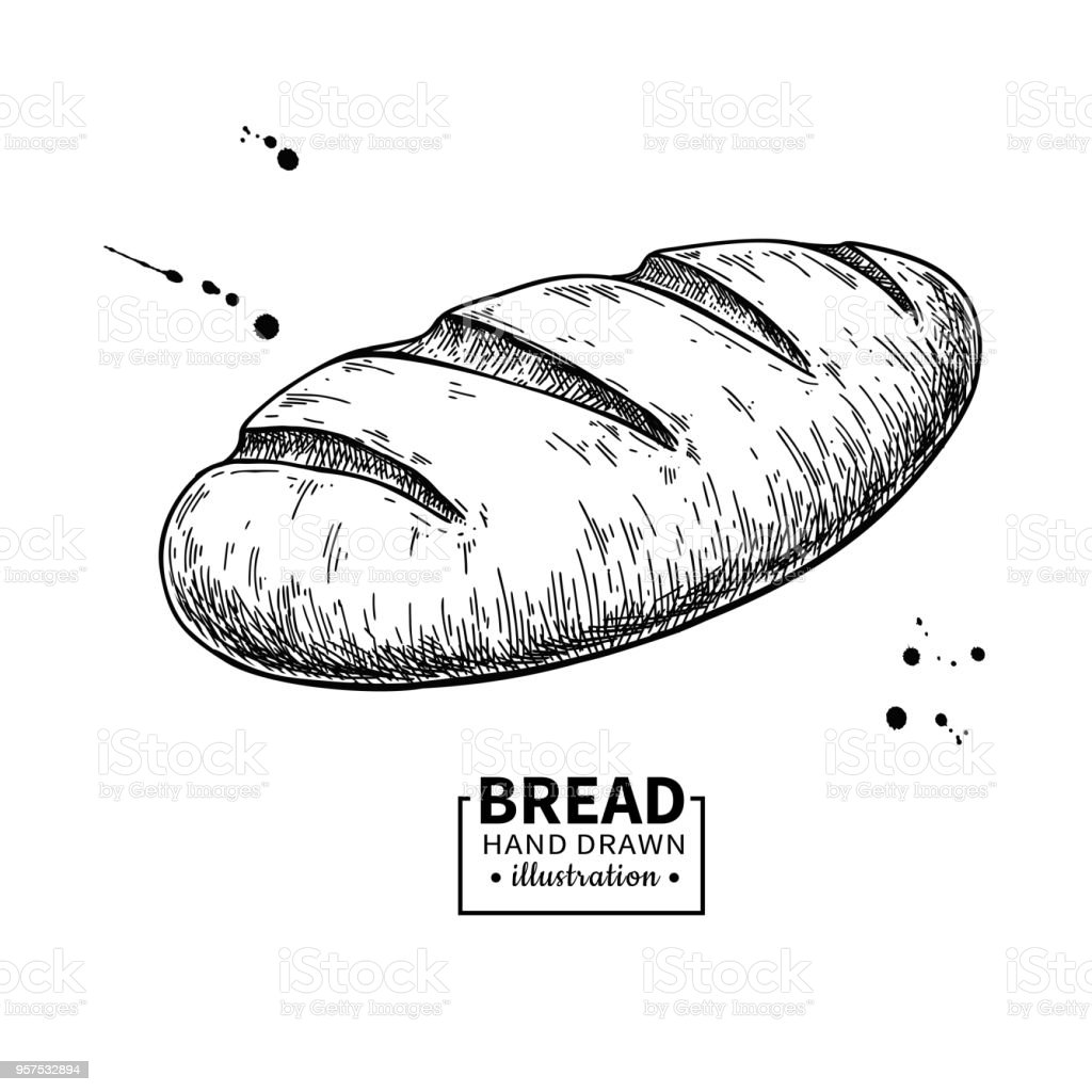 Dessin Boulangerie dessin de vectoriel pain croquis de produits de boulangerie cuisine