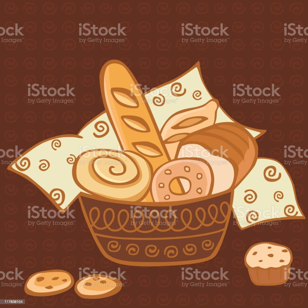 Bread vector art illustration