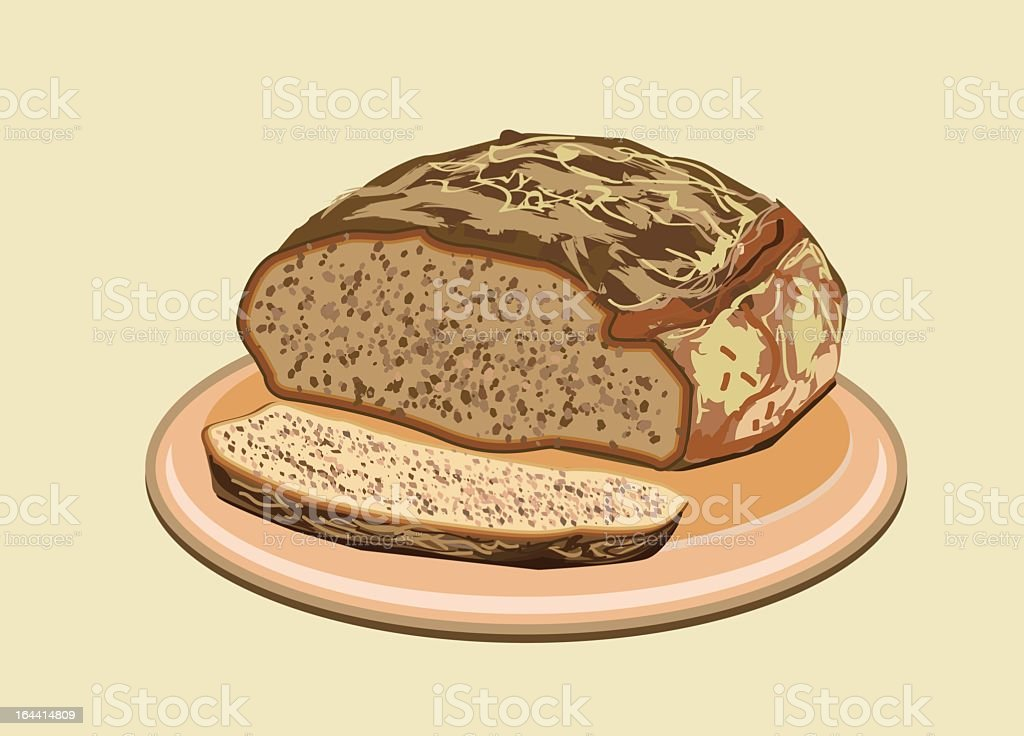 Bread royalty-free bread stock vector art & more images of 7-grain bread