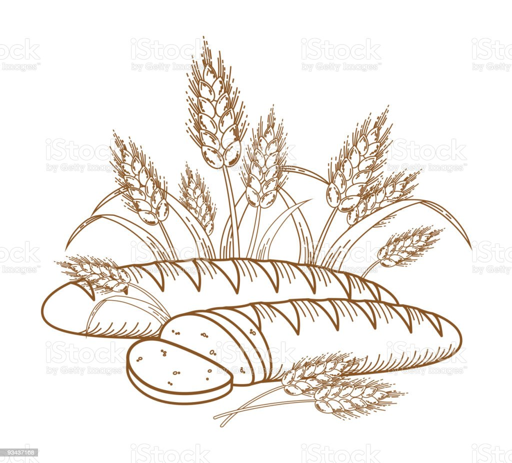 Bread royalty-free bread stock vector art & more images of agriculture
