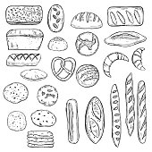 Bread. Vector  sketch illustration.
