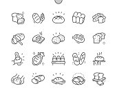 istock Bread Well-crafted Pixel Perfect Vector Thin Line Icons 30 2x Grid for Web Graphics and Apps. Simple Minimal Pictogram 1185193497
