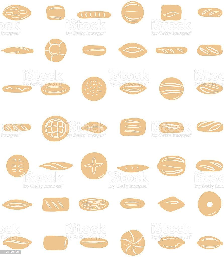 breads vector art illustration