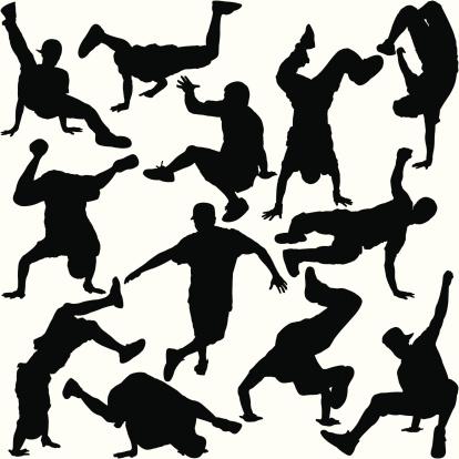Break Dancer Silhouette Set