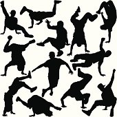 Break Dancer Silhouette Set