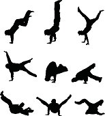 Break dancing people