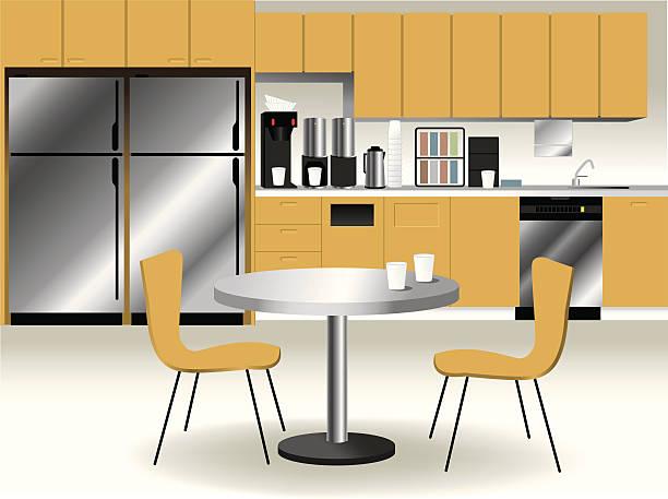 ilustrações de stock, clip art, desenhos animados e ícones de sala de pausa - kitchen counter