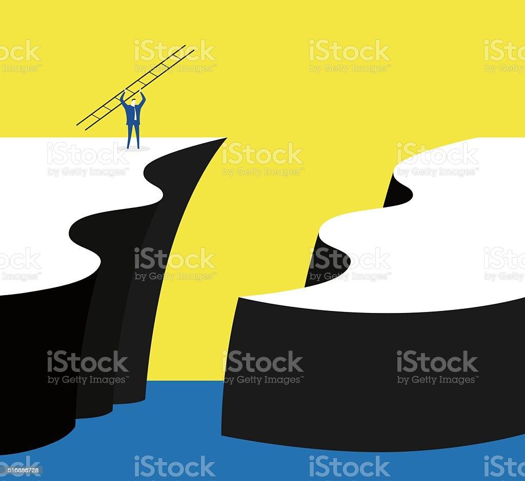 Break through vector art illustration