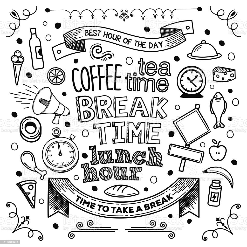 Break Time vector art illustration